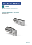 Stainless steel shielded gearboxes