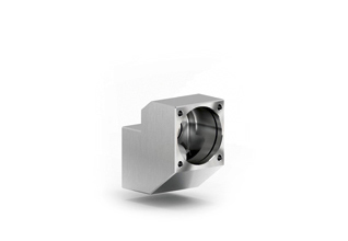 Smooth stainless steel housing.