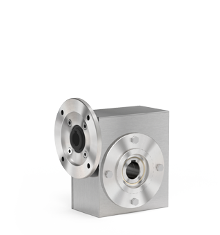 Stainless steel shielded worm gearboxes